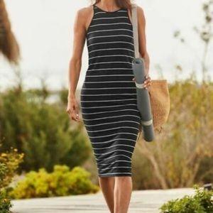 NWT Athleta Striped Sunkissed Midi Dress